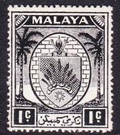 Malaysia-Negri Sembilan SG 42 1949 Arms, 1c Black, Mint Hinged - Negri Sembilan