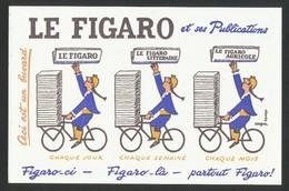 Buvard -  LE FIGARO - Buvards, Protège-cahiers Illustrés