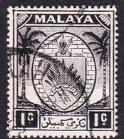Malaysia-Negri Sembilan SG 42 1949 Arms, 1c Black, Used - Negri Sembilan