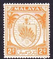 Malaysia-Negri Sembilan SG 43 1949 Arms, 2c Orange, Mint Hinged - Negri Sembilan