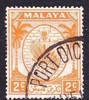 Malaysia-Negri Sembilan SG 43 1949 Arms, 2c Orange, Used - Negri Sembilan