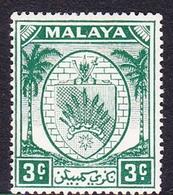 Malaysia-Negri Sembilan SG 44 1949 Arms, 3c Green, Mint Hinged - Negri Sembilan