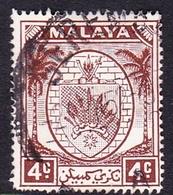 Malaysia-Negri Sembilan SG 45 1949 Arms, 4c Brown, Used - Negri Sembilan