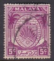 Malaysia-Negri Sembilan SG 46 1949 Arms, 5c Bright Purple, Used - Negri Sembilan