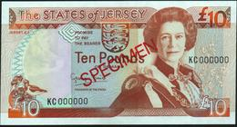 JERSEY - 10 Pounds Nd.(1993) SPECIMEN {sign. George Baird} UNC P.22 S - Jersey