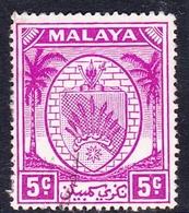 Malaysia-Negri Sembilan SG 46 1952 Arms, 5c Bright Purple, Used - Negri Sembilan