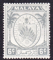 Malaysia-Negri Sembilan SG 47 1949 Arms, 6c Grey, Mint Hinged - Negri Sembilan