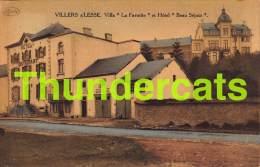CPA  VILLERS SUR LESSE VILLA LA FAVORITE ET HOTEL BEAU SEJOUR - Rochefort