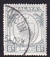 Malaysia-Negri Sembilan SG 47 1949 Arms, 6c Grey, Used - Negri Sembilan