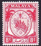 Malaysia-Negri Sembilan SG 48 1949 Arms, 8c Scarlet, Mint Hinged - Negri Sembilan