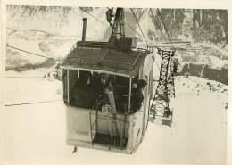 100618B - PHOTO DE PRESSE 1937 MONTAGNE Téléférique Des Houches Inauguré Par Léo LAGRANGE - Lieux