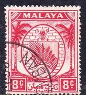 Malaysia-Negri Sembilan SG 48 1949 Arms, 8c Scarlet, Used - Negri Sembilan