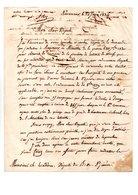 64 - NAVARRENX . LETTRE DE M. ROBY AU DÉPUTÉ DES BASSES-PYRÉNÉES . 22 JUIN 1834 - Réf. N°119F - - Manuscripts