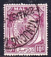 Malaysia-Negri Sembilan SG 50 1949 Arms, 10c Purple, Used - Negri Sembilan