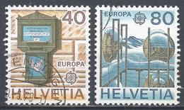 Switzerland 1979. Scott #675-6 (U) Europa, Lettre Box, Microwave Radio * Complet Set - Suisse