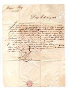 DOAZIT . NAVARRENX . LETTRE ADRESSÉE À MONSIEUR ROBY LE 16 MAI 1834 - Réf. N°120F - - Manuscripts