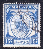Malaysia-Negri Sembilan SG 52 1949 Arms, 15c Ultramarine, Used - Negri Sembilan