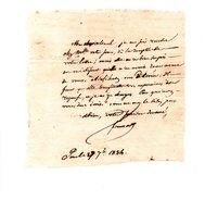 64 - PAU . NAVARRENX . LETTRE ADRESSÉE À MONSIEUR ROBY LE 27 SEPTEMBRE 1834 - Réf. N°122F - - Manuscripts