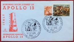 1970 MONCALVO ASTI CELEBRAZIONI III VIAGGIO TERRA LUNA HONORING MOON JOURNEY OF APOLLO 13 - Missioni