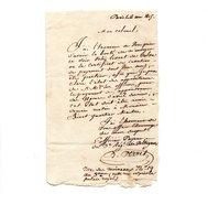 PARIS . LETTRE ADRESSÉE AU COLONEL ROBY LE 06 MAI 1815 - Réf. N°123F - - Manuscripts