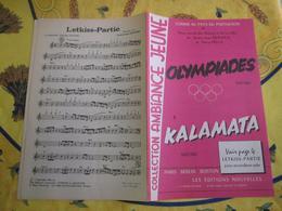 Partition - Olympiades - Kalamata - Sirtaki - A J Dervaux,dario Della - Música & Instrumentos