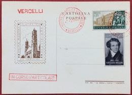 1952 VERCELLI Mostra Filatelica Vercellese - Francobolli (rappresentazioni)