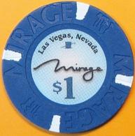 $1 Casino Chip. Mirage, Las Vegas, NV. E17. - Casino