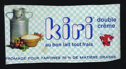 1 étiquette Fromage Kiri Double Crè   La Vache Qui Rit Fromage Pour Tratines - Cheese