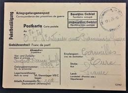 CP Accusé-Réception COLIS Prisonnier De Guerre STALAG VIII C Zagan Pologne Cachet Dateur De Censure > Cormeilles Mai1944 - WW II