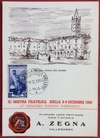1956 BIELLA XI Mostra Filatelica Biellese III CONCORSO FILATELICO STUDENTESCO FILATURA LANA A. ZEGNA VALLEMOSSO - Francobolli (rappresentazioni)
