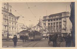 Zürich - Paradeplatz Mit Altem Tram - 1916        (P-139-60924)Par - ZH Zurich