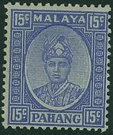 MALAYA PAHANG 1941 KGVI 15c Ultramarine SG 39 Mounted Mint - Pahang