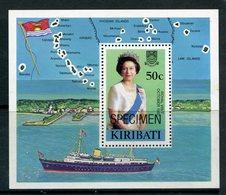 Kiribati 1982 Royal Visit - SPECIMEN - MS MNH (SG MS196) - Kiribati (1979-...)