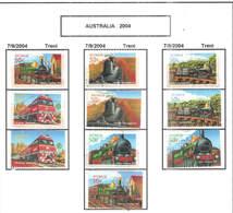 Australia PO 2004 Treni Ferrovie  Scott.2286/2290  + See Scan On Scott.Page - 2000-09 Elizabeth II