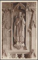 Statue Of St David, St David's Cathedral, Pembrokeshire, C.1930s - Mendus RP Postcard - Pembrokeshire