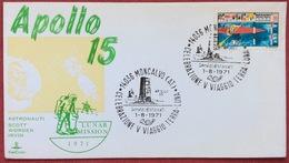 1971 MONCALVO ASTI CELEBRAZIONI V VIAGGIO TERRA LUNA  MOON  APOLLO 15 - Missioni