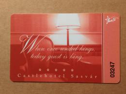 Hotel Keycard - Castle Hotel Sasvár - Hungary Xy022 - Hotel Keycards