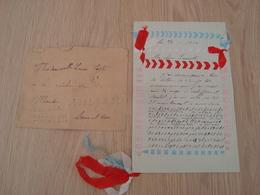 LETTRE + ENVELOPPE 31 MARS 1917 LETTRE CODEE - Documents Historiques