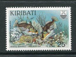 Kiribati 1985 Reef Fish - 25c Value - Wmk. Inverted - MNH (SG 233w) - Kiribati (1979-...)