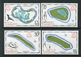 Kiribati 1985 Island Maps - 4th Issue - Set MNH (SG 237-40) - Kiribati (1979-...)
