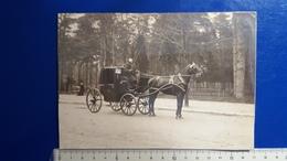PHOTO FIACRE  Carte Collée Sur Support Carton Dans L'état Voir Photo - Taxis & Cabs