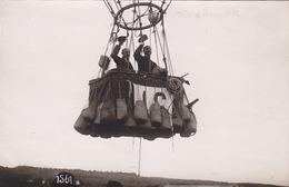 """Gordon-Bennett-Wettfliegen Zürich 1909 - Ballonstart """"Ville De Bruxelles"""" - Fotokarte       (P-139-60924)Par - Montgolfières"""