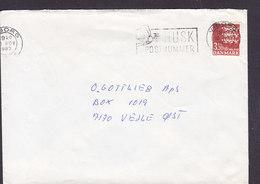 Denmark Slogan Flamme 'Postnummer Zip Code' VIBORG 1987 Cover Brief VEJLE Øst Lion Arms Wappen Löwe 3.30 Kr. Stamp - Briefe U. Dokumente