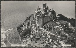 Aerial View, St Michael's Mount, Cornwall, C.1950s - Aerofilms RP Postcard - St Michael's Mount