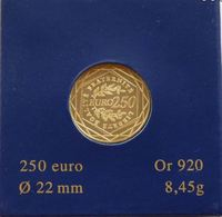FRANCE 250 EURO SEMEUSE FDC OR 2009 - France