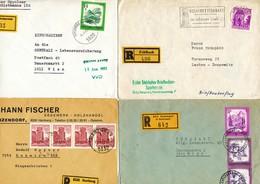 Österreich -  4 Einschreibe-Briefe - Poststempel - Freistempel