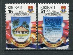 Kiribati 1989 Tenth Anniversary Of Independence Set MNH (SG 303-304) - Kiribati (1979-...)