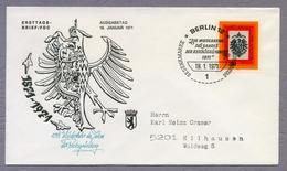 Germany Berlin 1971 FDC 100. Jahrestag Der Reichsgründung 100 Th Anniversary Of The Foundation Of The German Empire - [5] Berlin