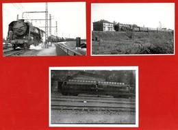 """3 Photos SNCF: Train Quittant PASSY + Beau Plan De Train( Non Situé) + Wagon """"Postes Et Télégraphes"""" Lot N°19 - Trenes"""