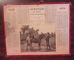 Almanach/Calendrier Des Postes Et Telegraphes - Ane - 1919 - Calendars